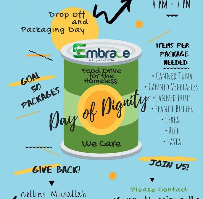 Embrace Food Drive This Weekend!